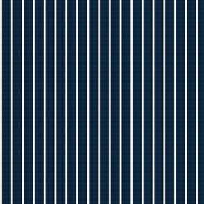 baseball stripes- cream on navy
