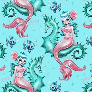 Mysterious Mermaid in Blue-SMALL