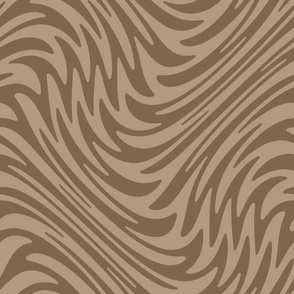 Feather swirl - mocha