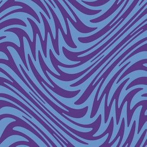 Feather swirl - purple and blue