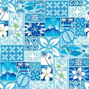New Hawaiian Motif - blue