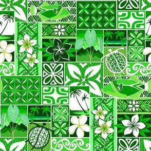 New Hawaiian Motif - green