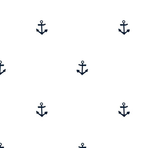 Anchor white and navy