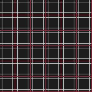 Persona 5 Shujin High School Uniform Plaid (Black/Red/White)