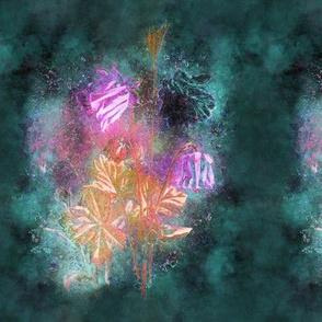 FAIRYTALE DREAM FLOWERS BOUQUET green teal emerald
