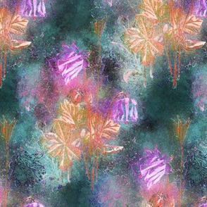 FAIRYTALE DREAM FLOWERS DOUBLE BOUQUET green teal emerald