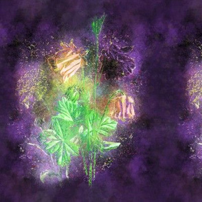 FAIRYTALE DREAM FLOWERS BOUQUET PURPLE