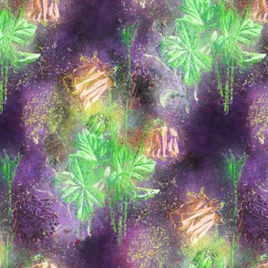 FAIRYTALE DREAM FLOWERS DOUBLE BOUQUET PURPLE