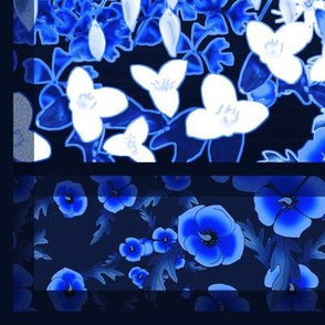Royal Blue Floral - Plunge Neck Pancho Dress Pattern