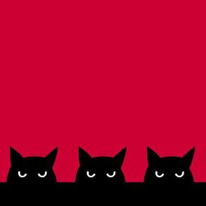 """12"""" - three cats"""