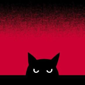 """8"""" - cat - halftone"""