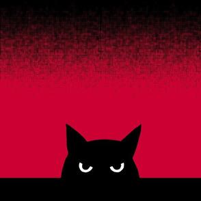 """12"""" - cat - halftone"""