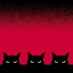 """12""""- three cats - halftone"""