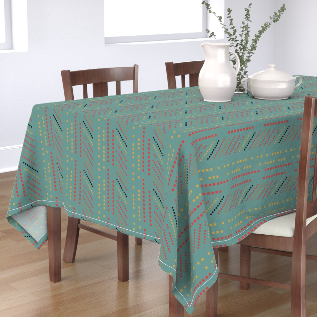 Bantam Rectangular Tablecloth featuring fest_sprinkle2_cw1 by jere_brooks