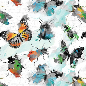 Watercolour grey Insects