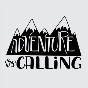 "8"" Quilt block - Adventure is calling mountains - Stacked"