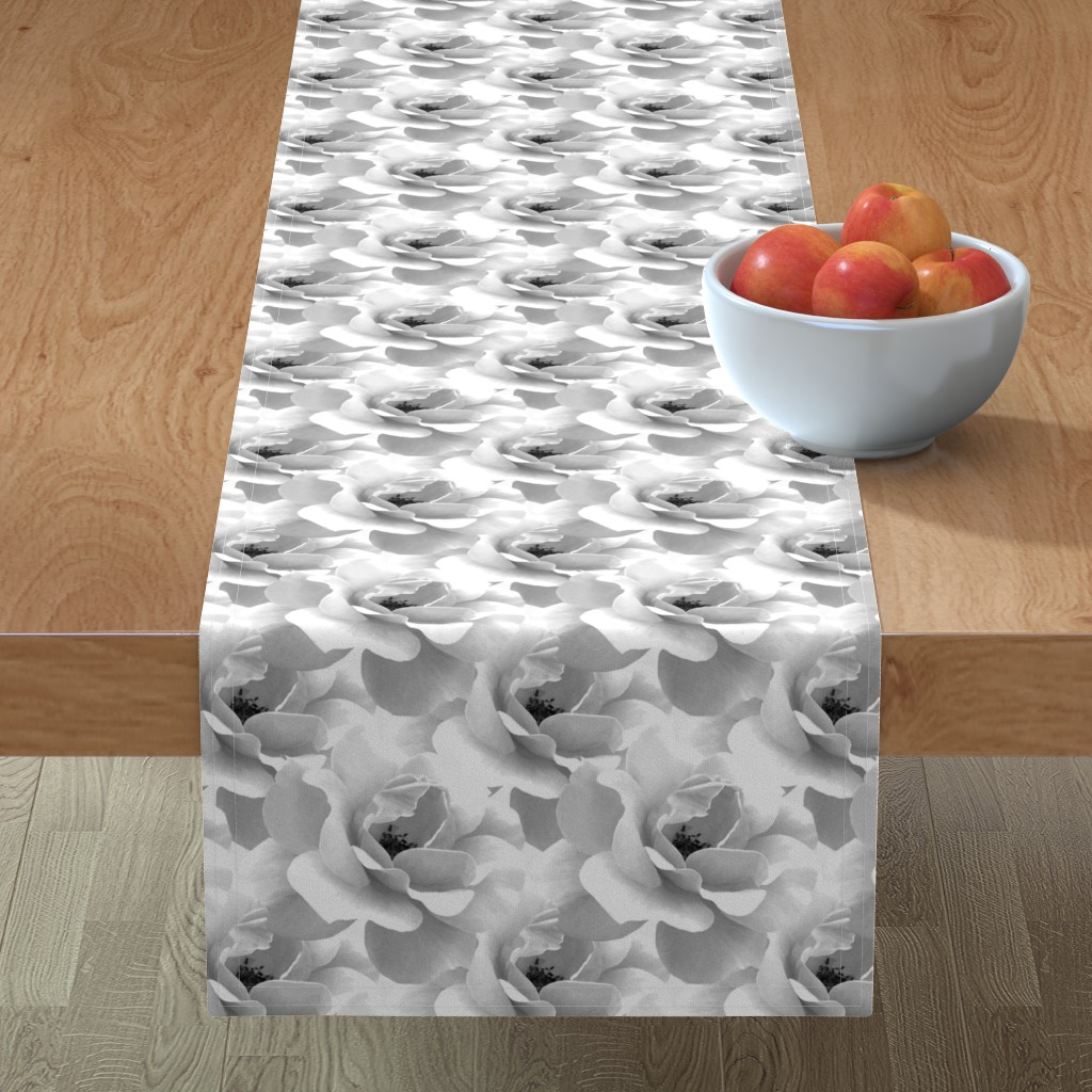 Minorca Table Runner featuring Ultimate_Rose_Grey by artonfabric