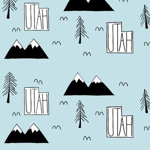 Utah Mountains   Sky Blue