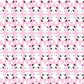 Tiny Bunny & Panda - Pink