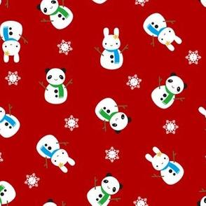 Snow Bunny & Snow Panda (Red)