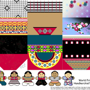 International Friends Handkerchief Dolls