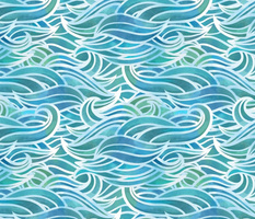 Abstract watercolor waves