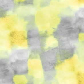 fiesta watercolor squares - yellow and grey