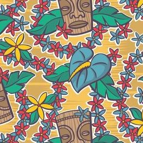 Oily Aloha - Tiki Floral - Yellow