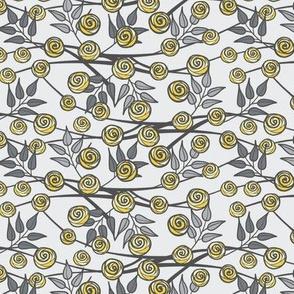 Climbing Roses, Gray and Yellow