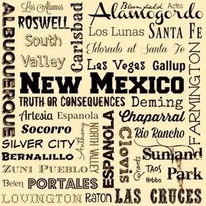 New Mexico cities, cream