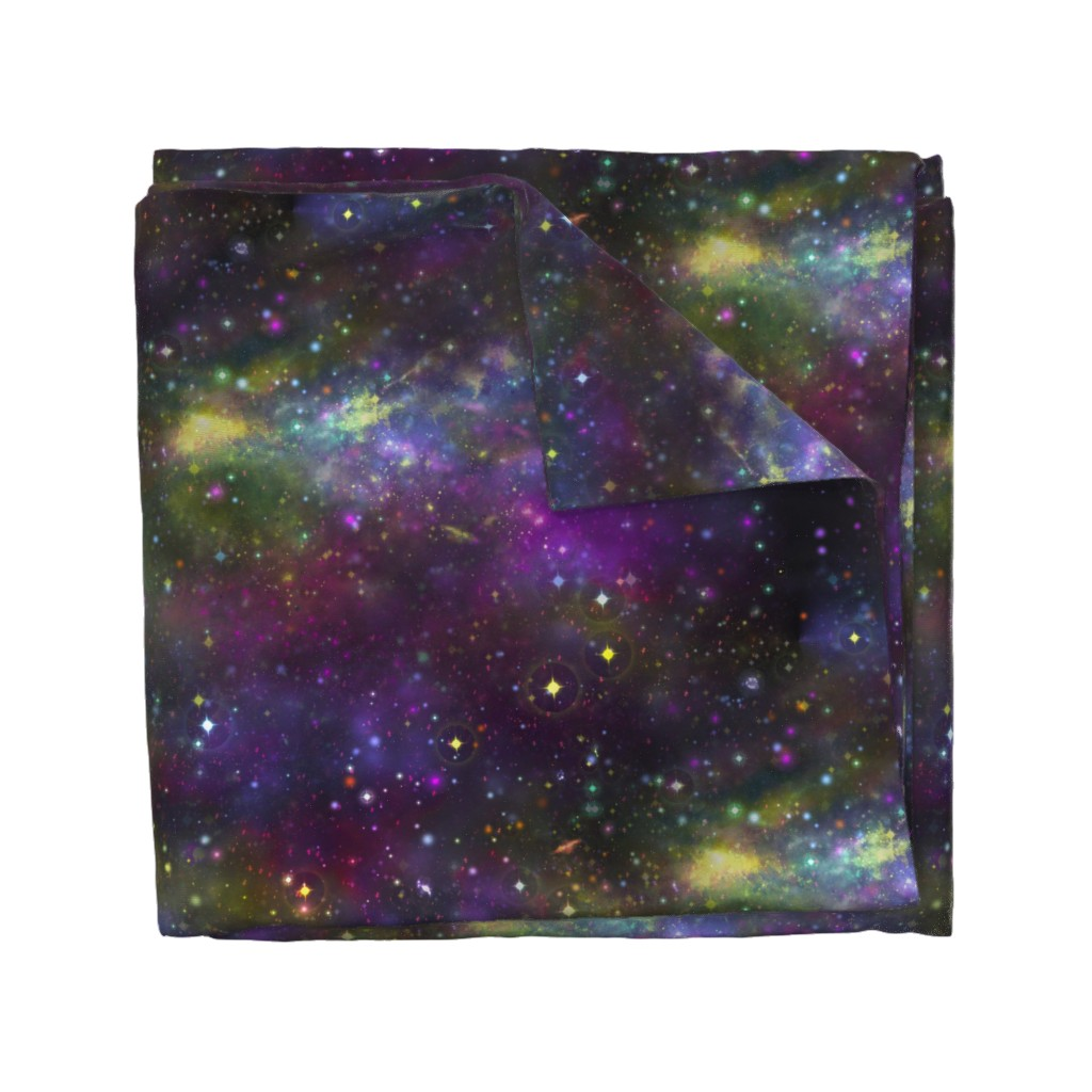 Wyandotte Duvet Cover featuring Fantasy Nebula by cellesria