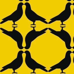 Pigeon Circles-Gold
