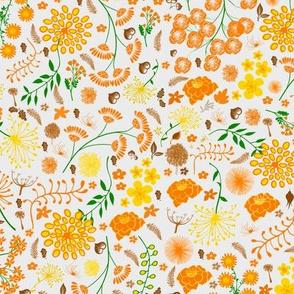 Swedish orange folk flowers