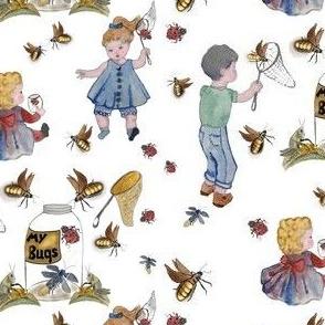 Catching bugs! White background by Salzanos