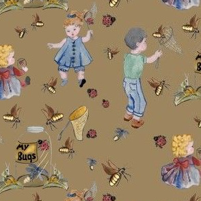 Catching bugs Beige background by Salzanos