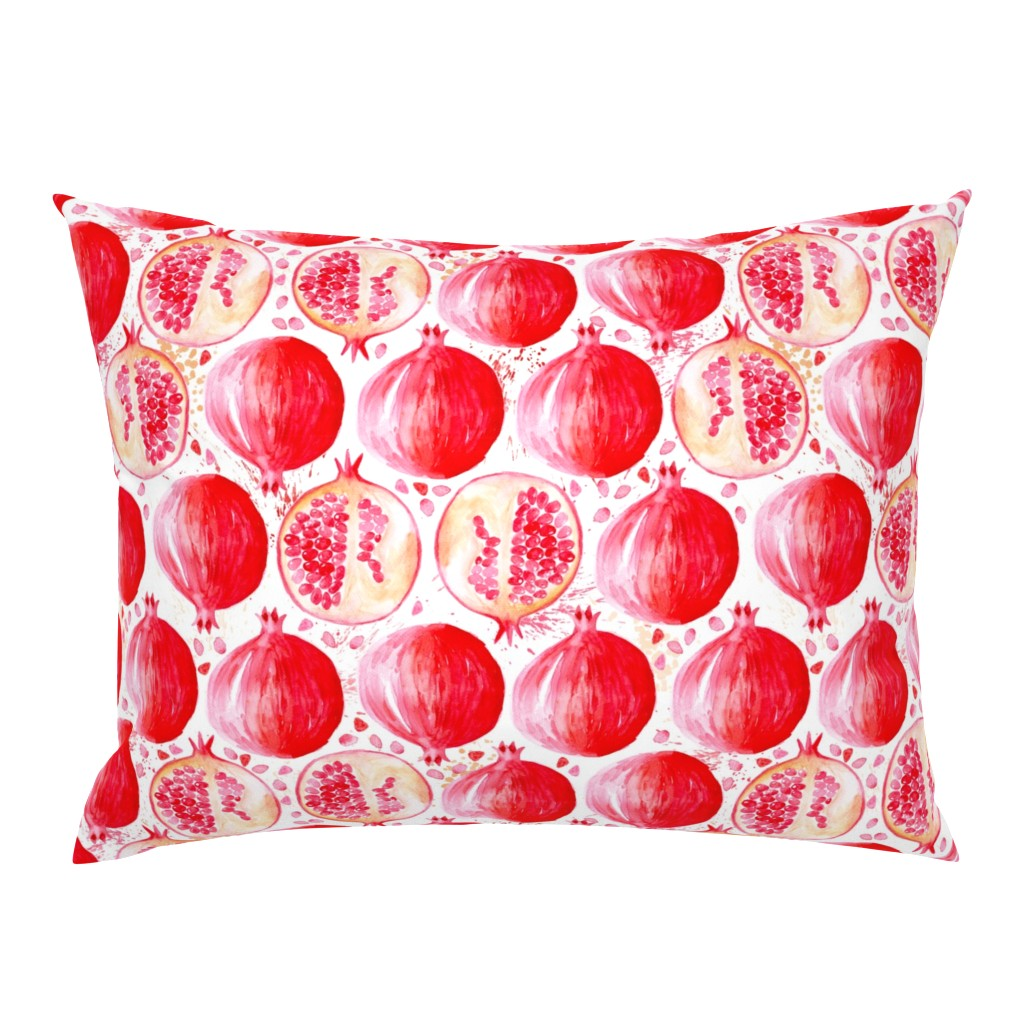 Campine Pillow Sham featuring watercolor pomegranate by nadja_petremand
