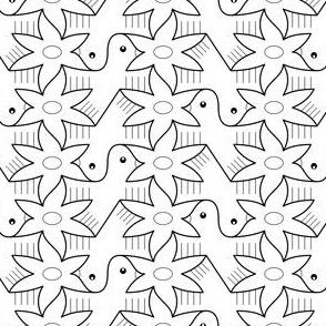 06401801 : tess 2g bird 1 bloom 1 outline