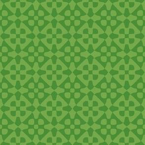 Diamond checker - clover leaves