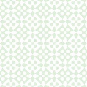 Diamond checker - pale green and white