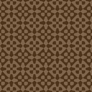diamond checker - chocolate brown
