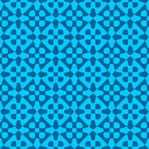 diamond checker in turquoise