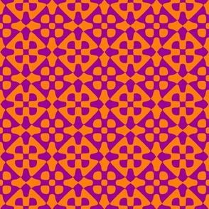 diamond checker - Indian purple and orange