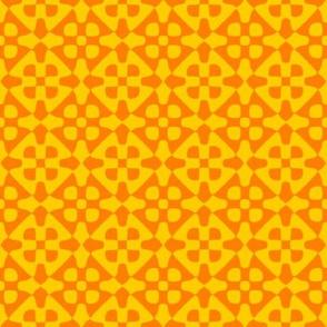 diamond checker - sunshine and saffron