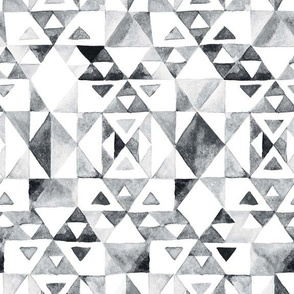 Watercolor Geometric Triangles