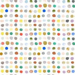 Small Watercolor Dots