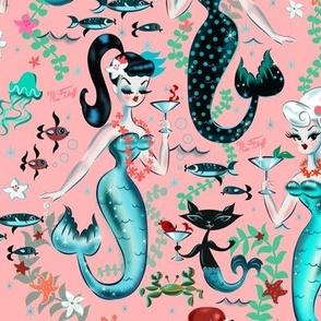 Martini Mermaids on Coral