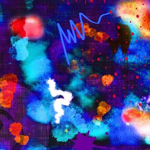 Abstract Watercolor (Blue)