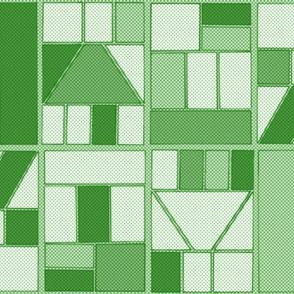 Ben-Day Comic Frames Green