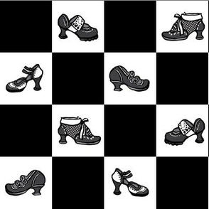 Fluevog Shoe Checkerboard