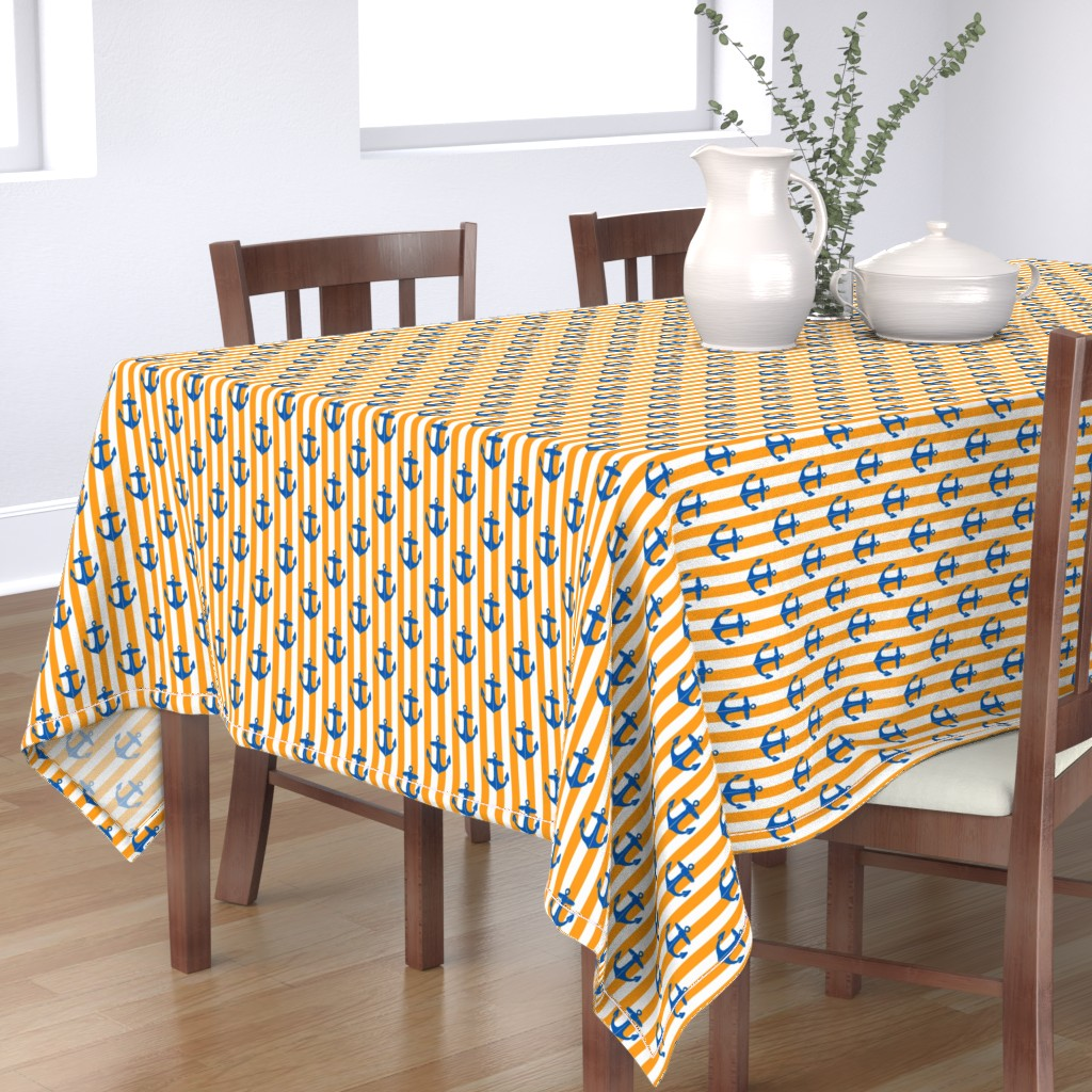 Bantam Rectangular Tablecloth featuring Old Ship's Anchor by heretherebemonsters